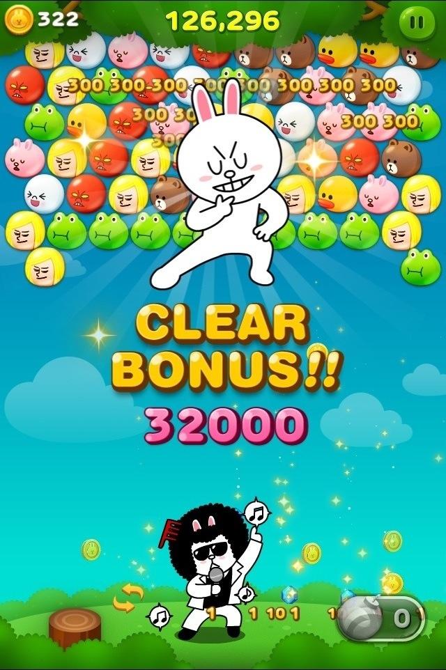 クリアボーナス32000点画像〜LINEバブル〜