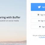 Bufferの会員登録画面
