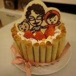 バレンタイン手作りケーキ キャラチョコ