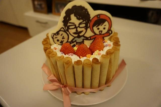 バレンタインに愛のこもったキャラチョコショートケーキの作り方